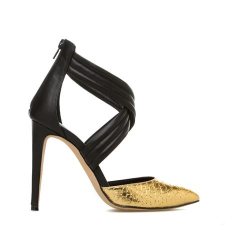 Scene Black Strappy Heels, Sexy Platform Heels, Women's Peep Toe ...