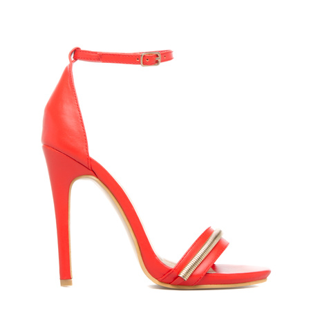 Women's Black High Heels, Cheap Ankle Strap Sandals, Sexy Red High ...