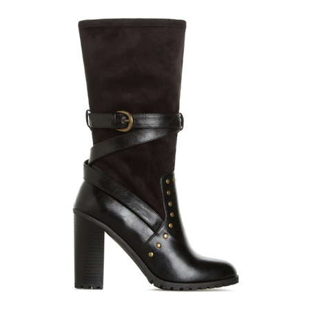 Black Ankle Boots, Women's Combat Boots, Black High Heel Booties ...