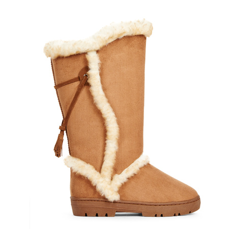 Chamonix Women's Winter Boots, Brown Fur Boots, Cheap Brown Boots ...