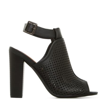 Marna Black Peep Toe High Heels, Cute Peep Toe Shoes, Discount ...