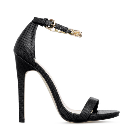Women&39s High Heels Sexy Black Heels Strappy Sandals Kitten Heel